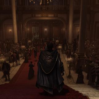 Haytham dans le hall du <b>Royal Opera House</b>