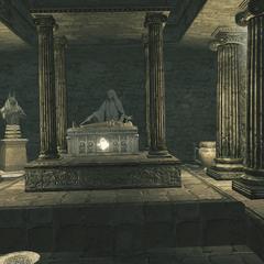 La statue de Leonius et son sarcophage