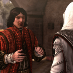Copernicus vertelt Ezio over de Meester van het Heilige Paleis.