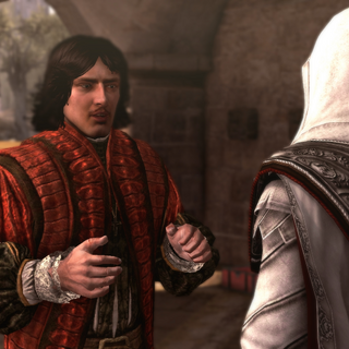 Copernicus telling Ezio about the Master of the Sacred Palace
