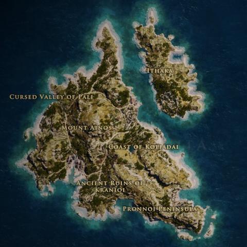 凯法罗尼亚的地图