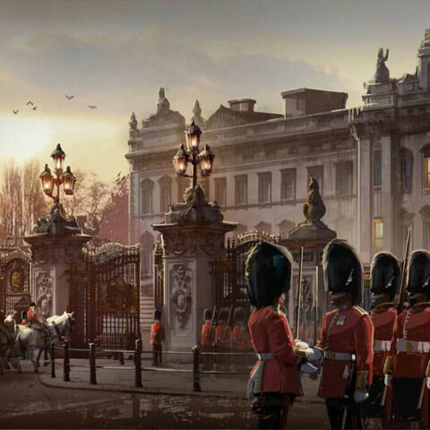 Concept art of Buckingham Palace