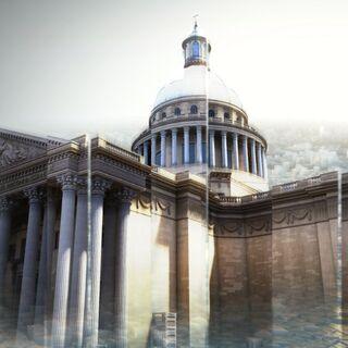 Le <b>Panthéon</b> dans la <a href=
