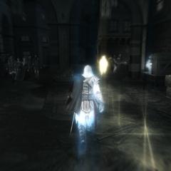 Ezio suivant le conjuré
