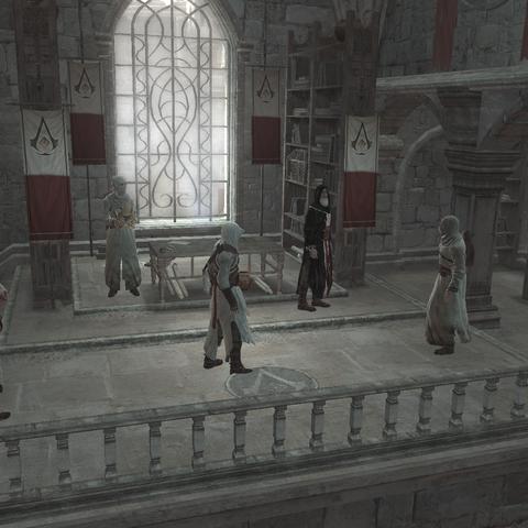 مغتال يبلغ إلى المعلم هجوم فرسان الهيكل.