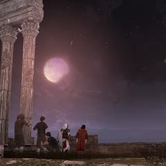 Ezio et Copernic devant l'éclipse