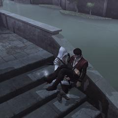 Ezio portant le corps de Federico