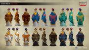 ACCC Concubine Colour Variants - Concept Art