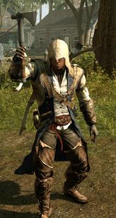 Connor z wojennym tomahawkiem (by Kubar906)