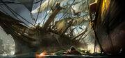 AC4 Ship Boarding - Concept Art