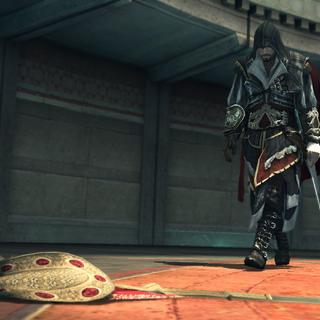 Ezio découvrant la fuite de Rodrigo