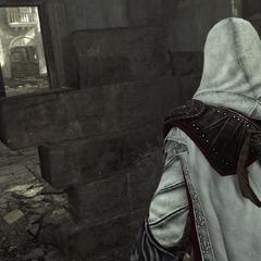 Ezio pénétrant dans le palais du Latran