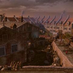 沃尔科特堡垒的空中视角
