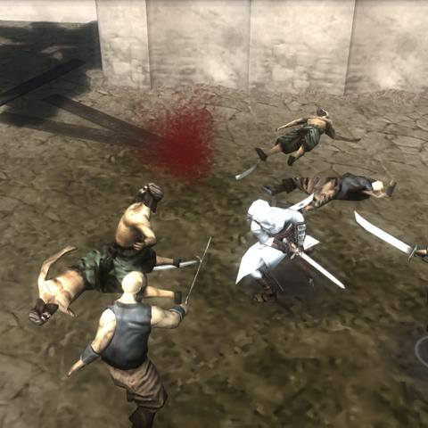 阿泰尔与海盗战斗
