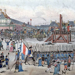 A painting of the execution of Robespierre