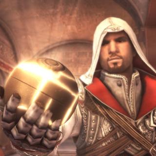 Ezio présentant son