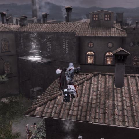 Ezio traversant Florence au pas de course