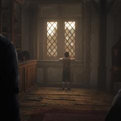 Arno et Margot veillant sur Léon