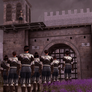 Bartolomeo's huurlingen bij het Franse kamp.
