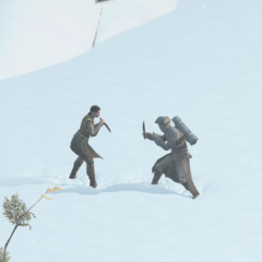 米莉安同偷猎者战斗
