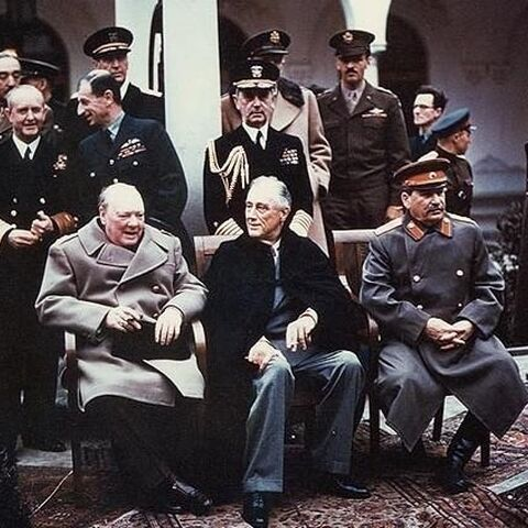 Churchill at the Yalta Conference