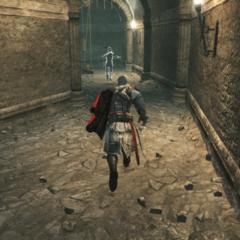 Ezio poursuivant un <a href=