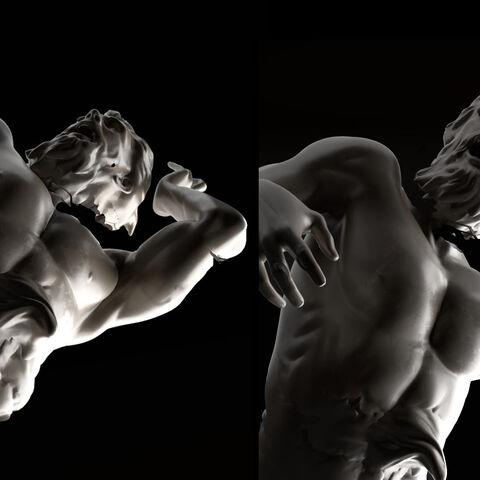 雨果·普佐利绘制的雕像的原设图