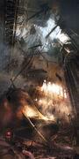 ACU Church Collapse - Concept Art