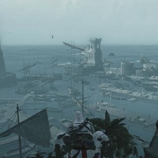 阿泰尔远眺港口