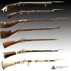 刺客信条III中的滑膛枪