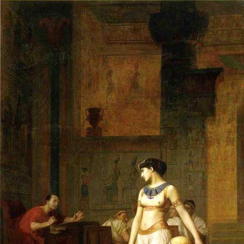 <i>艳后与凯撒</i> ,法国画家让-莱昂·热罗姆所作