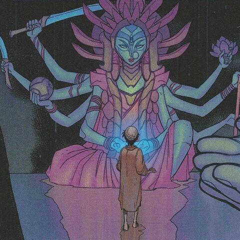 La statue de Durga