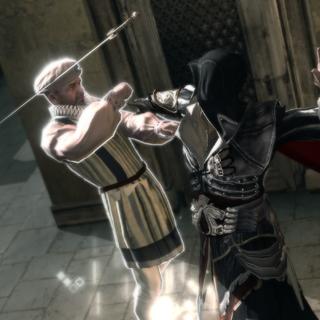 埃齐奥刺杀了佣兵头领