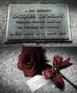 Jacques de Molay tombstone