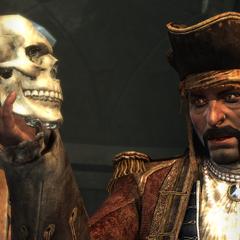 罗伯茨给爱德华展示水晶头骨