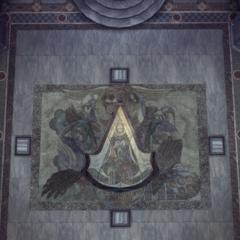 L'entrée du tombeau se dévoilant