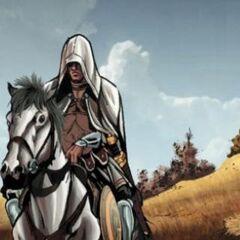 阿奎卢斯在马背上