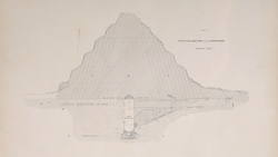 DTAE Vertical section drawing of Djoser's Pyramid