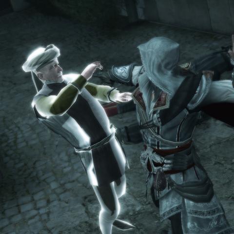Ezio assassinant le premier conspirateur