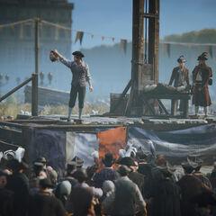 Une exécution à la guillotine