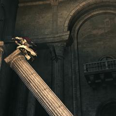 Ezio traversant la salle principale