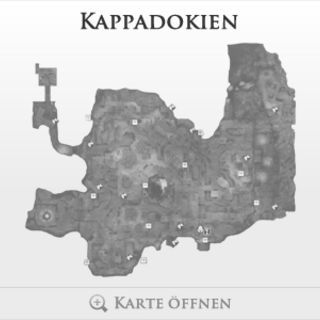Eine Karte Kappadokiens