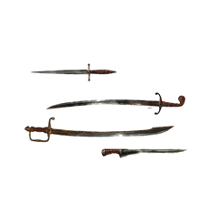The Deacon's weapons