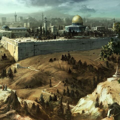 耶路撒冷的概念艺术画