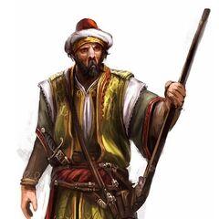 Ottoman rifleman concept art