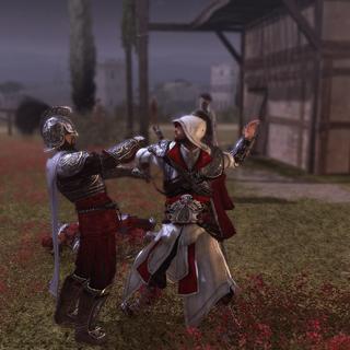Ezio assassinant l'un des gardes