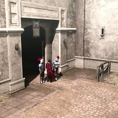Cesare rentrant au château Saint-Ange