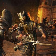 Ezio combattant un <b>janissaire</b>
