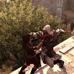 Ezio tuant Lia