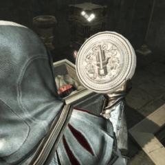Ezio Auditore récupérant le sceau de <b>Darius</b> dans son sarcophage